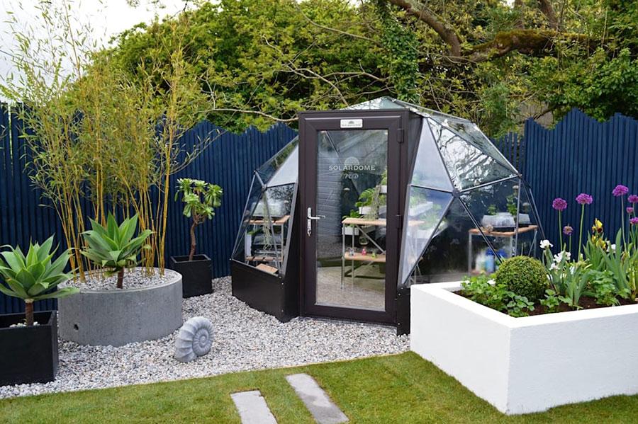Modello di serra da giardino in vetro n.22