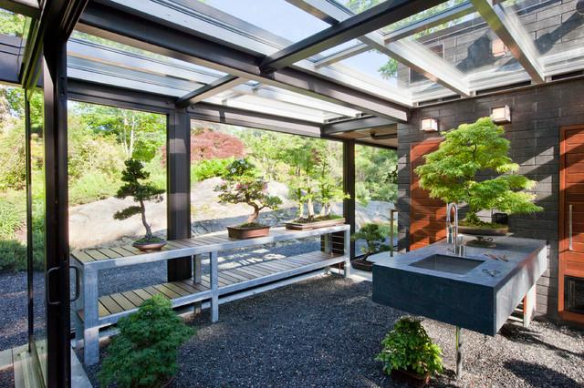 Foto della serra da giardino in vetro n.02