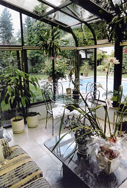 Foto della serra da giardino in vetro n.05