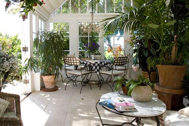 Foto della serra da giardino in vetro n.06