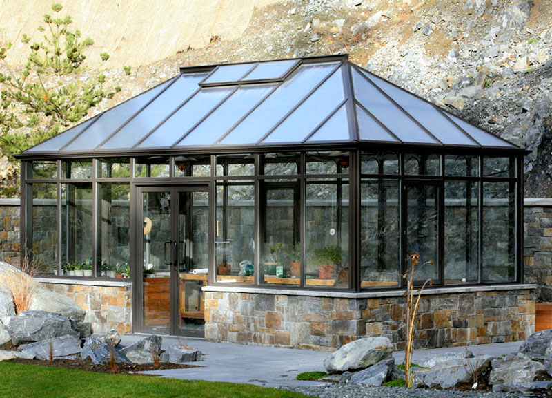 Foto della serra da giardino in vetro n.07