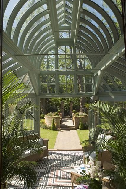 Foto della serra da giardino in vetro n.08