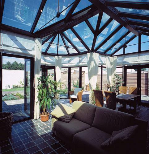 Foto della serra da giardino in vetro n.09
