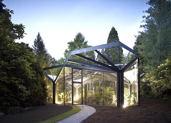 Foto della serra da giardino in vetro n.03