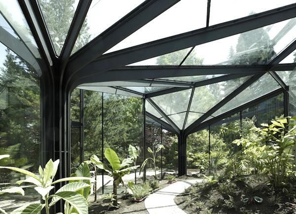 Foto della serra da giardino in vetro n.04