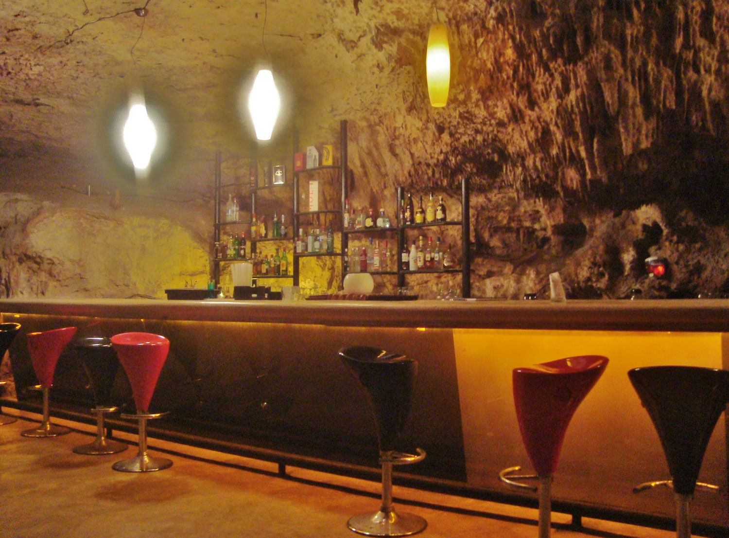 Arredamento del bar Alux Caverna Lounge in Messico