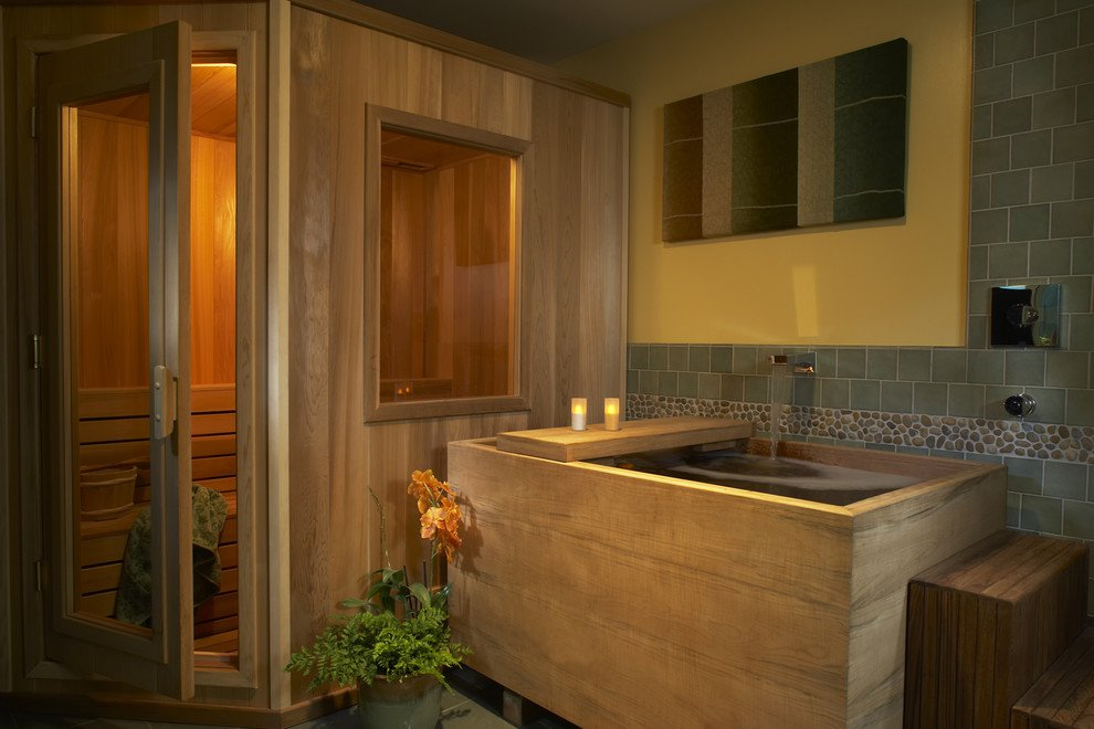 15 bagni moderni con design in stile zen for Master bathroom with sauna