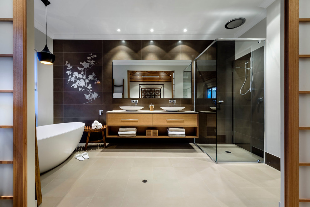 15 bagni moderni con design in stile zen for Deco slaapkamer chalet