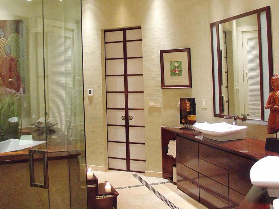Bagno moderno in stile zen n.34