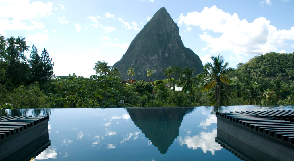 Foto della piscina del resort Boucan By Hotel Chocolate a Santa Lucia