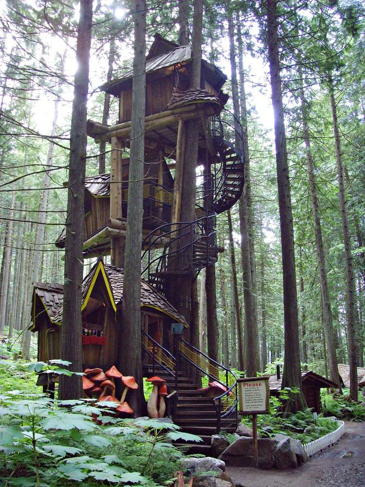 Foto della casa a forma di albero in Canada