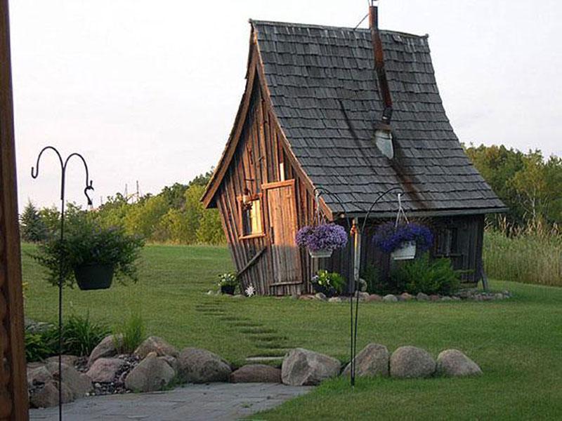 Foto della stravagante casa costruita in Minnesota