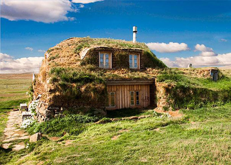 Foto della casa tradizionale dell'Islanda