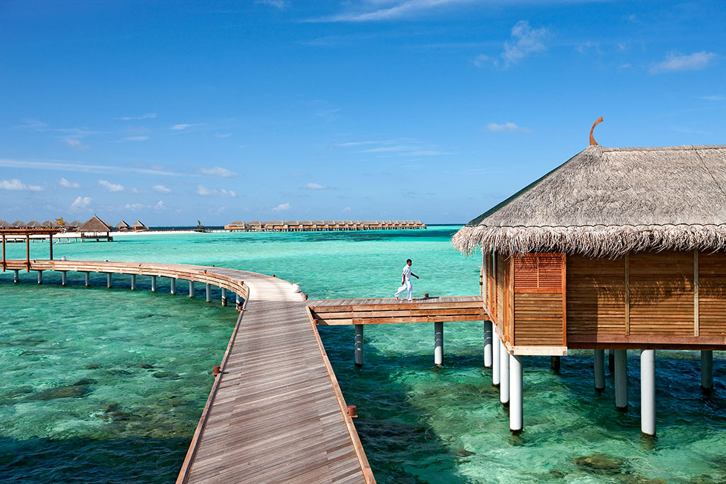 Bungalow sull'acqua alle Maldive