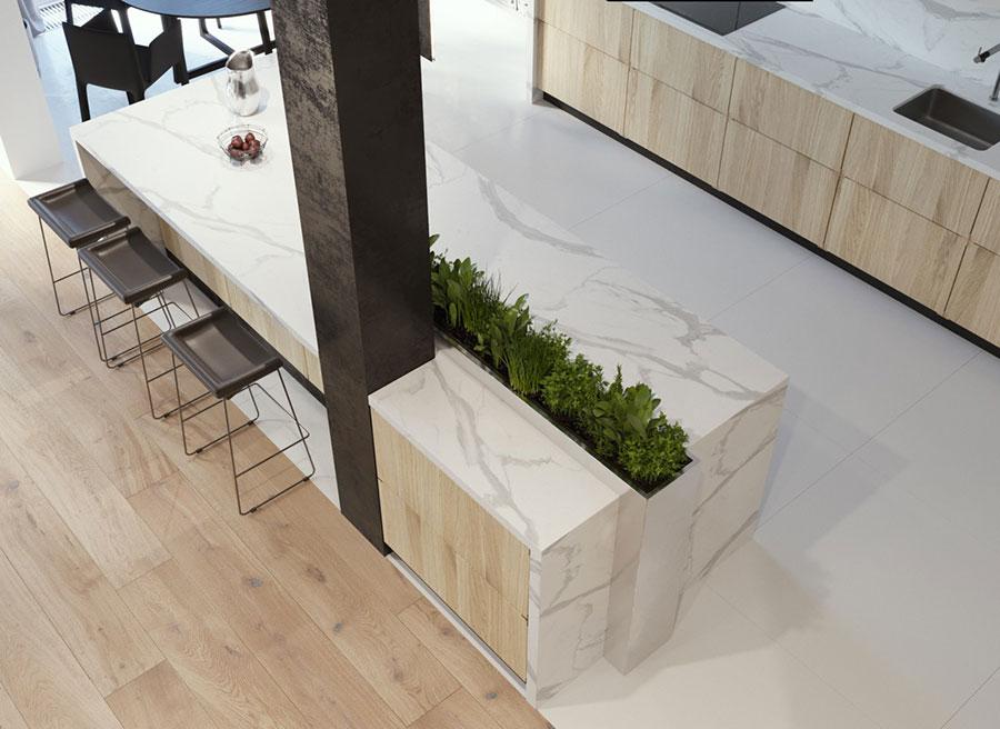 Modello di cucina moderna con isola centrale n.04