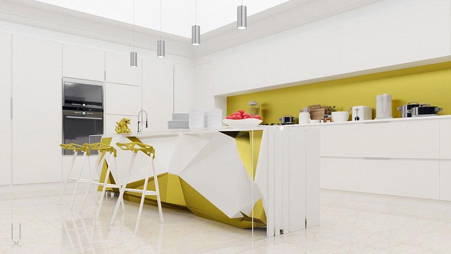 Modello di cucina moderna con isola centrale n.10