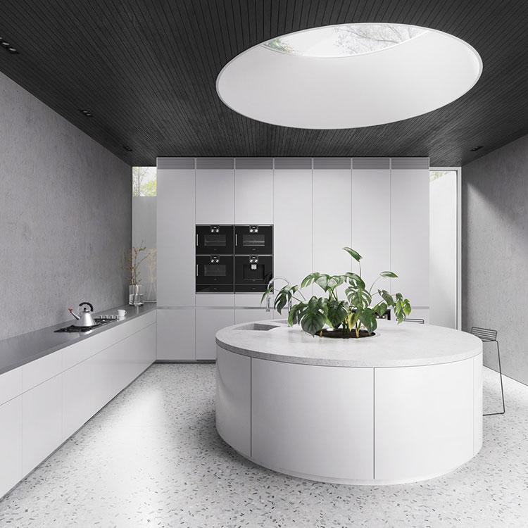 Modello di cucina moderna con isola centrale n.16
