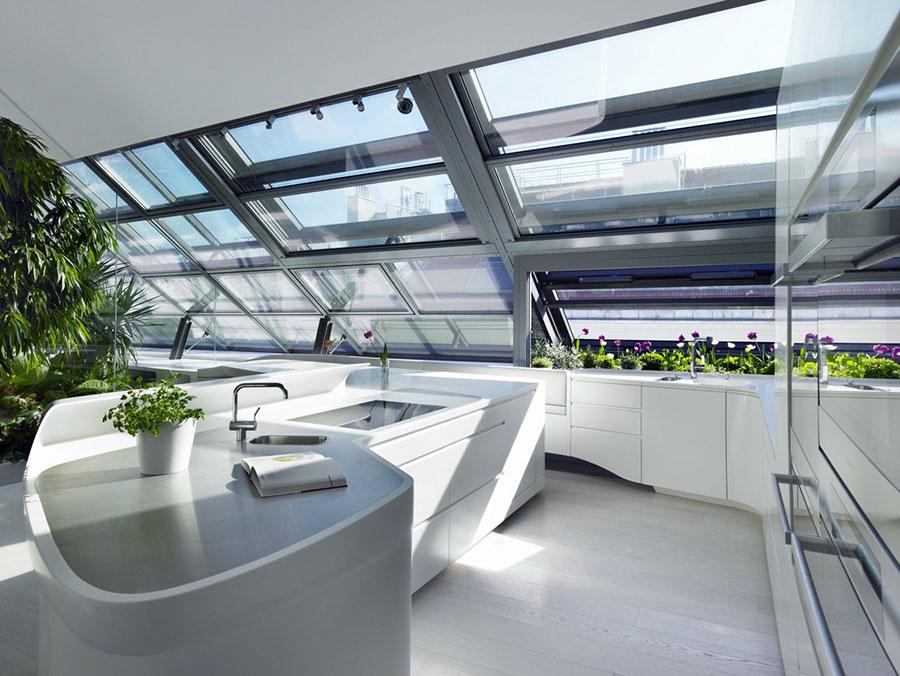 Modello di cucina moderna con isola centrale n.18