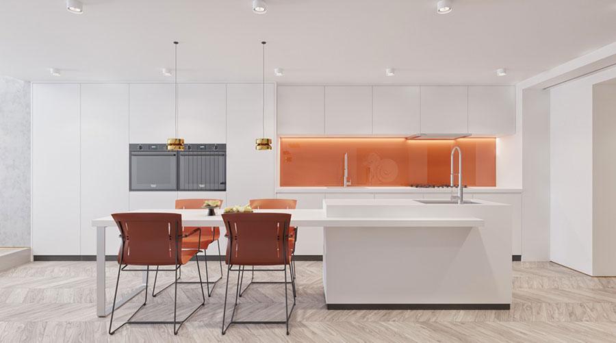 Modello di cucina moderna con isola centrale n.23