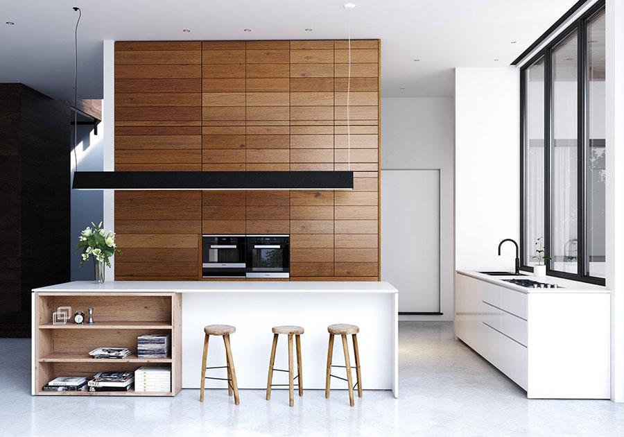 Modello di cucina moderna con isola centrale n.32