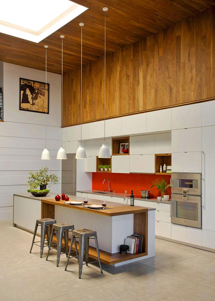Modello di cucina moderna con isola centrale n.35