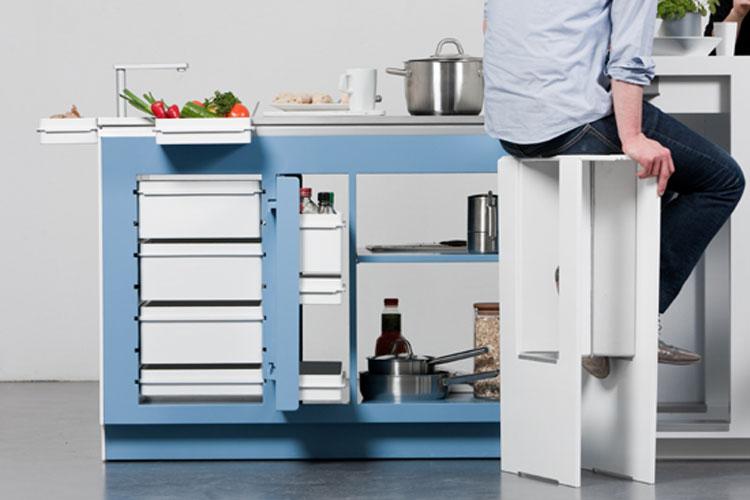 Spazi di lavoro della cucina a scomparsa Come Together