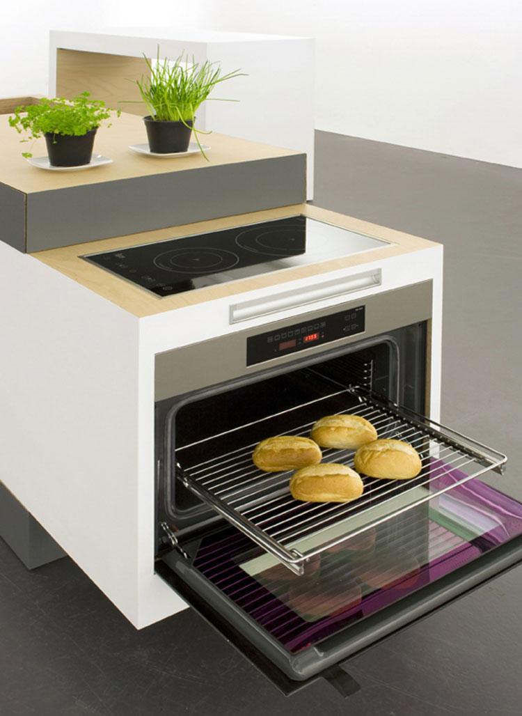 Dettaglio forno della cucina a scomparsa Small Type