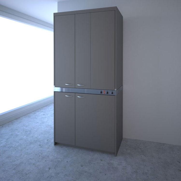 Foto della cucina a scomparsa John Strand chiusa
