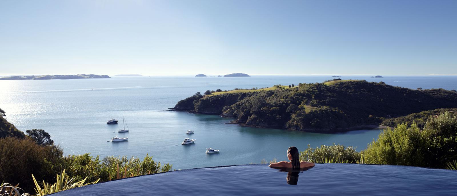 Foto della piscina del resort Delamore Lodge in Nuova Zelanda