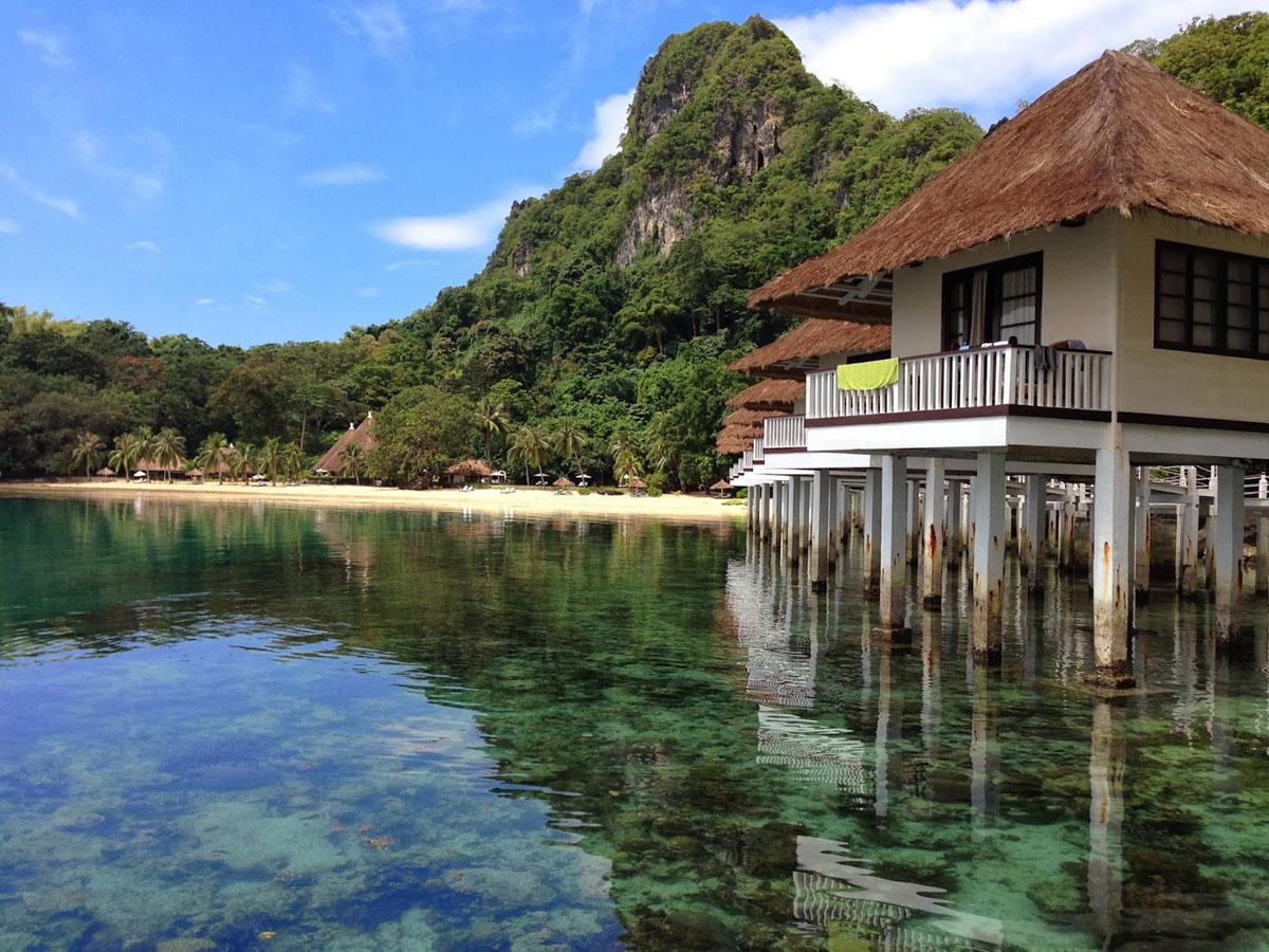 Bungalow sull'acqua alle Filippine