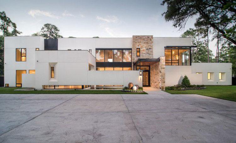 20 foto degli esterni di case moderne dal design for Case moderne design