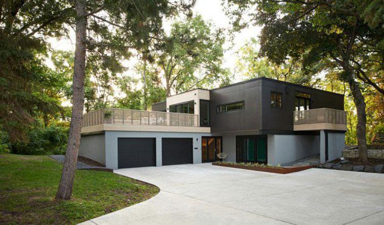 20 foto degli esterni di case moderne dal design for Case moderne interni legno