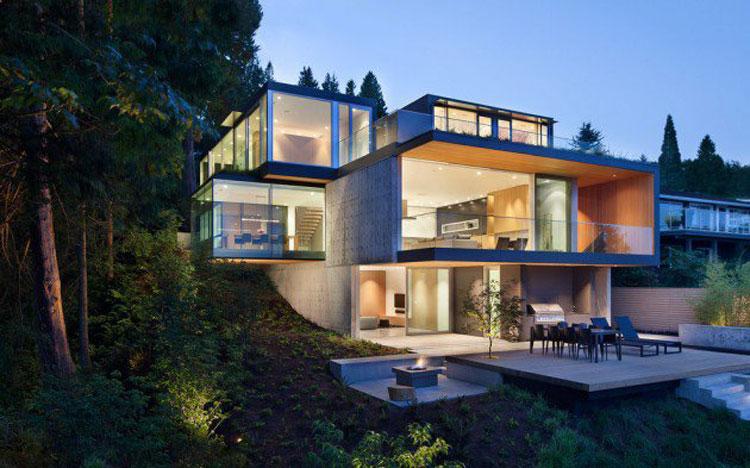 Foto dell'esterno della casa moderna n.18