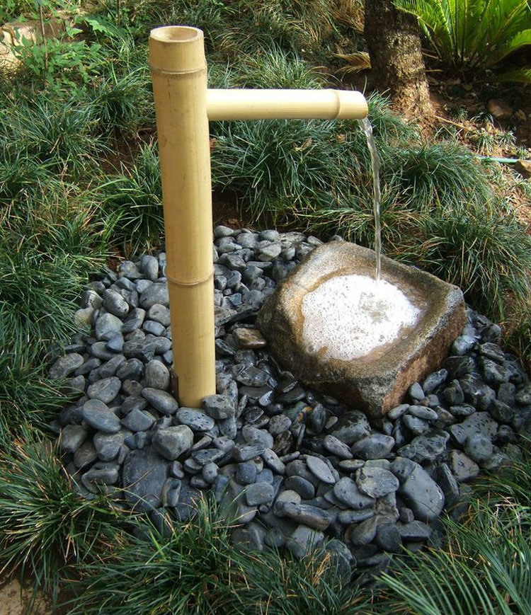 Foto della fontana in stile zen n.05