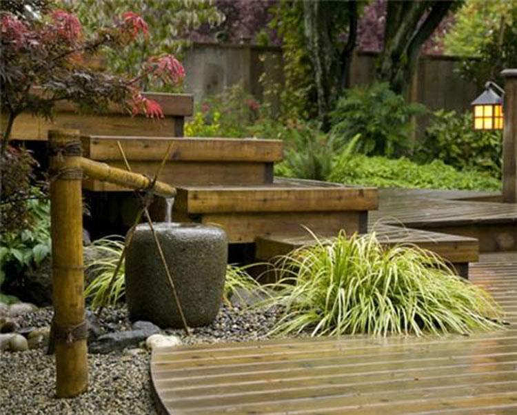Foto della fontana in stile zen n.06