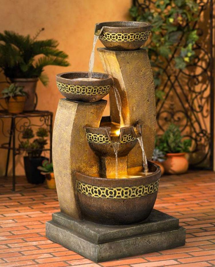 Foto della fontana in stile zen n.07