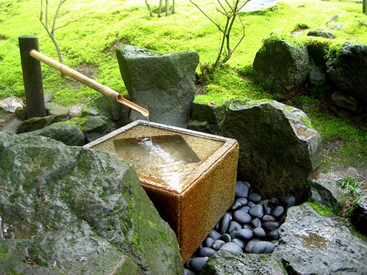 Foto della fontana in stile zen n.08