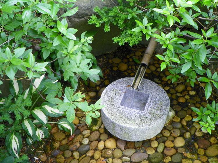 Foto della fontana in stile zen n.09
