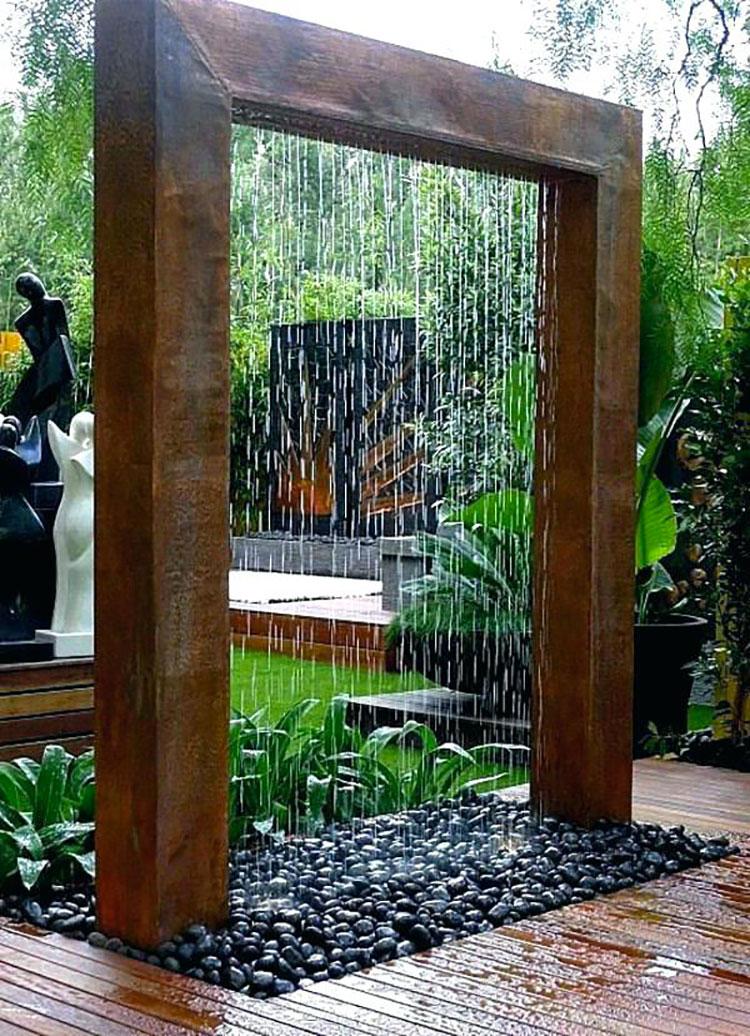 Foto della fontana in stile zen n.45