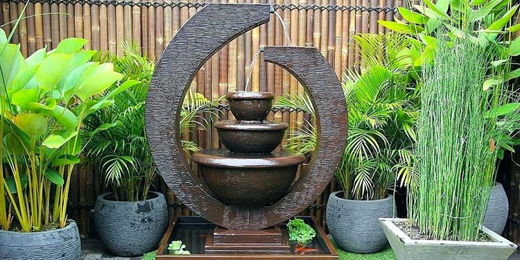 Foto della fontana in stile zen n.46
