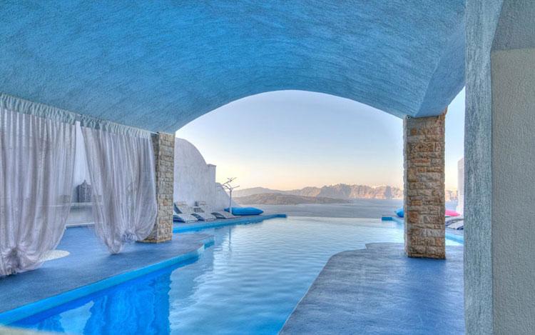 Foto della piscina dell'hotel Astarte Suits in Grecia