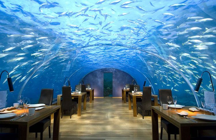 Foto del ristorante dell'hotel Conrad alle Maldive