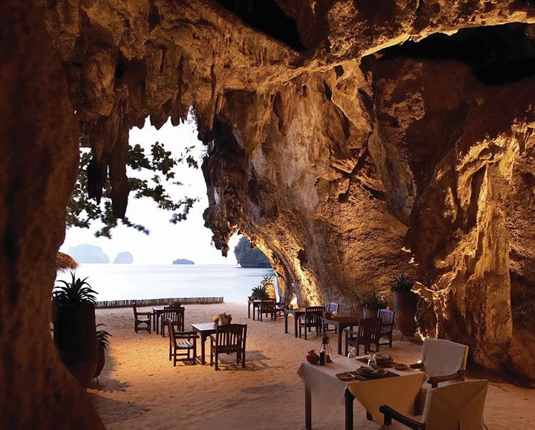 Foto del ristorante dell'hotel Rayavadee Krabi in Thailandia