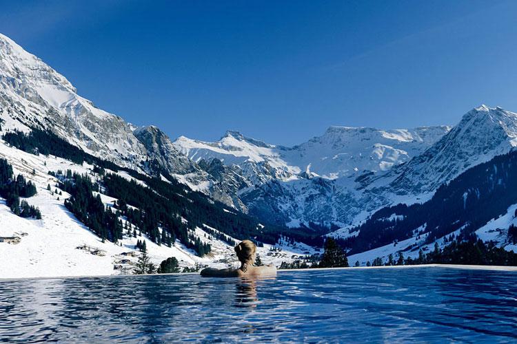 Foto della piscina dell'hotel The Cambrian in Svizzera