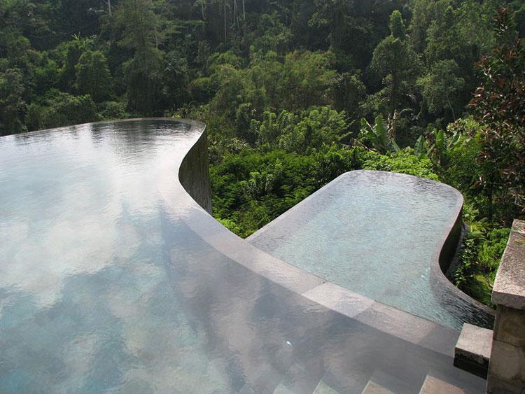 Foto della piscina dell'hotel Ubud Hanging Gardens in Indonesia