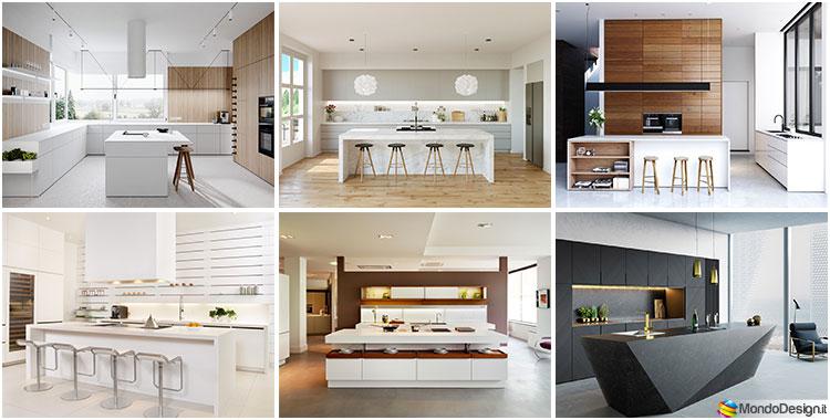 Cucina Con Isola Dimensioni. Moderna Cucina Con Isola Centrale Unit ...
