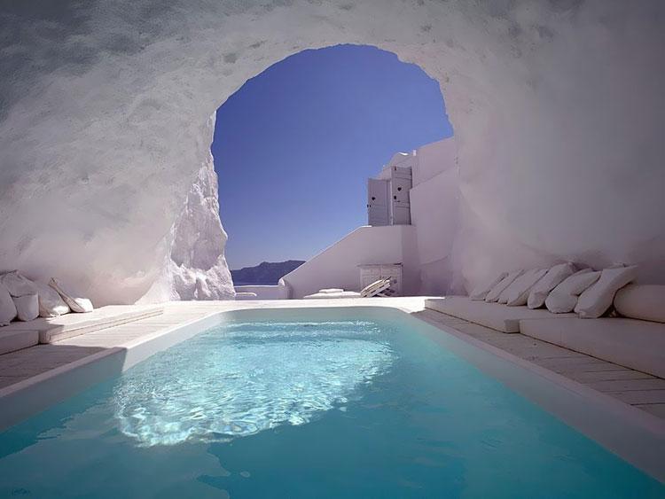 Foto della piscina del Katikies Hotel Oia in Grecia