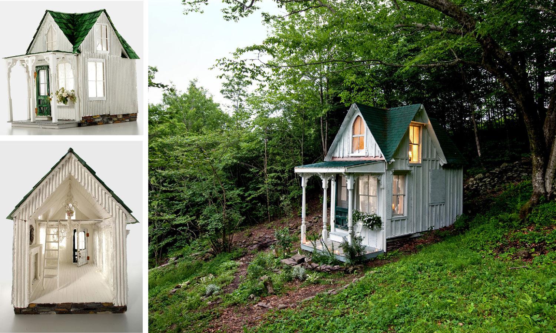 Foto del mini cottage costruito a New York