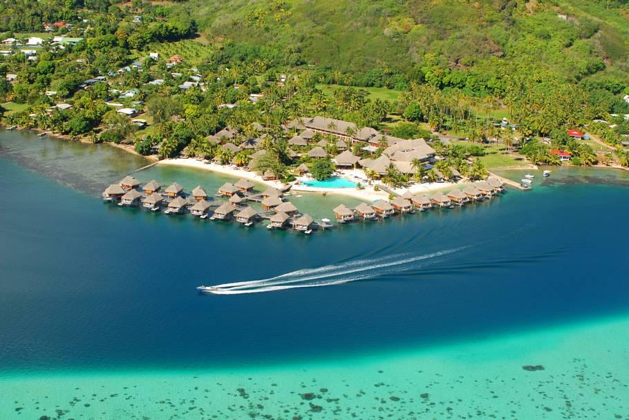 Bungalow sull'acqua in Polinesia francese