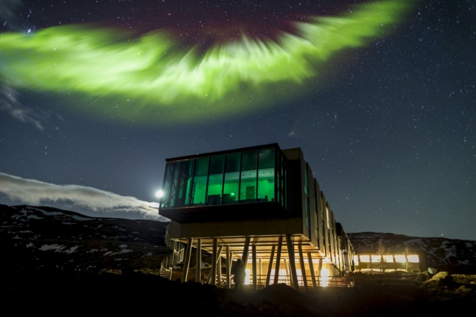 Design del bar Northern Lights in Islanda